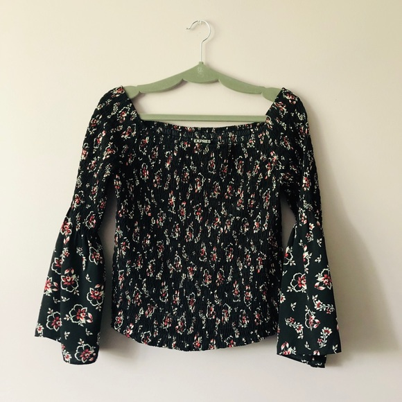 Express Tops - ♥️ EXPRESS Wide Sleeve Off-The-Shoulder Blouse